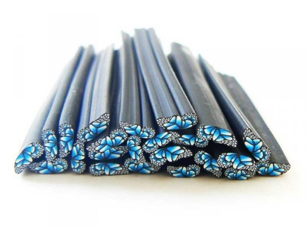 Butterfly wing cane - blue