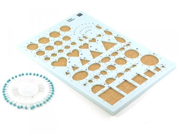 Acheter pochoir de quilling avec plaque en liège - 8,40€ en ligne sur La Petite Epicerie - 100% Loisirs créatifs