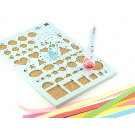 Acheter pochoir de quilling avec plaque en liège - 8,40€ en ligne sur La Petite Epicerie - Loisirs créatifs