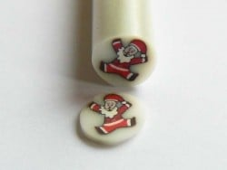 Father Christmas Cane - happy