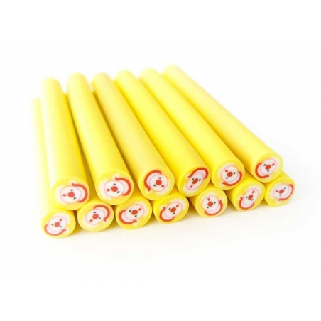 Father Christmas cane - round and yellow