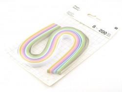 Bandes de papier pour quilling pastel - 8mm