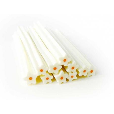 Acheter Cane fleur étoilée blanche en pâte fimo - à découper en tranches - 0,99€ en ligne sur La Petite Epicerie - Loisirs c...