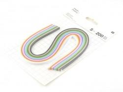 Papierstreifen in verschiedenen Farben fürs Quiling - 5 mm
