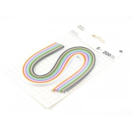 Bandes de papier pour quilling multicolore - 5mm