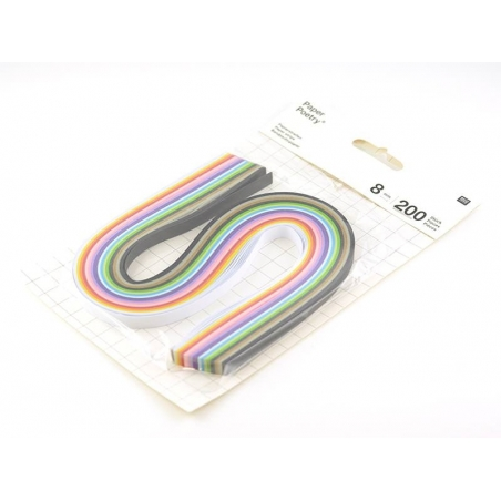 Paper quilling strips in various colours - 8 mm