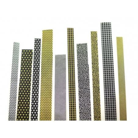 Bandes de papier Origami - noir magnétique