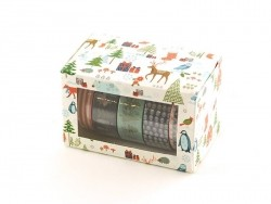 5 masking tape hiver -bleu/rouge Rico Design - 2