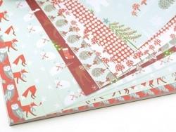 Bloc de papier à motif - forêt hiver