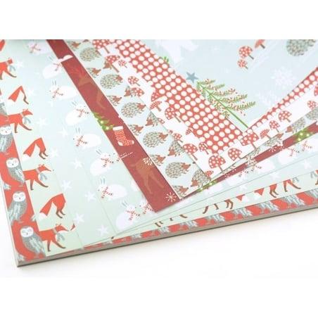 Acheter Bloc de papier à motif - forêt hiver - 9,50€ en ligne sur La Petite Epicerie - 100% Loisirs créatifs