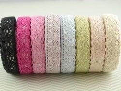 Fabric tape dentelle - crème
