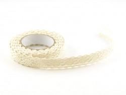 Fabric tape dentelle - ivoire