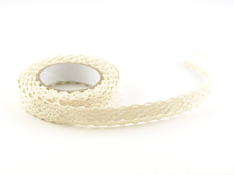 Fabric tape (lace) - ivory