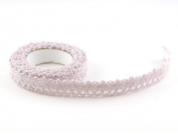 Fabric tape (lace) - lilac