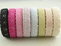 Fabric tape dentelle - lilas