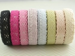 Fabric tape (lace) - pastel green
