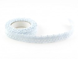 Fabric tape (lace) - light blue