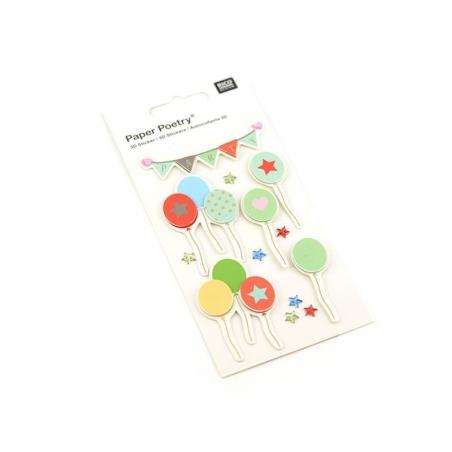 Acheter Stickers 3D - ballons - 4,45€ en ligne sur La Petite Epicerie - 100% Loisirs créatifs