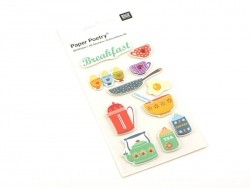 3-D stickers - Breakfast