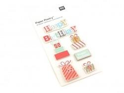 3-D stickers - Birthday