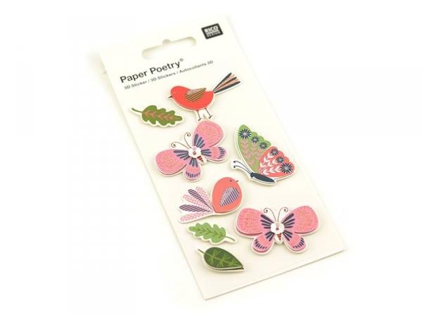 Acheter Stickers 3D - Papillons - 4,45€ en ligne sur La Petite Epicerie - 100% Loisirs créatifs