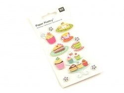 3-D stickers - Pastries