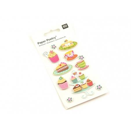 Stickers 3D - Patisseries