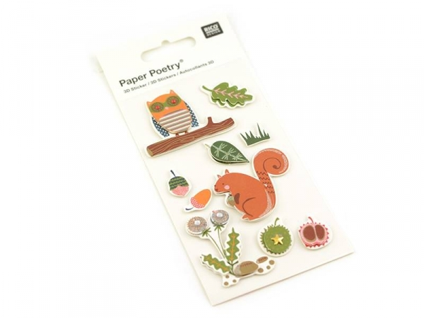 3-D stickers - Forest animals
