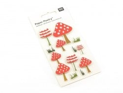 3-D stickers - Mushrooms