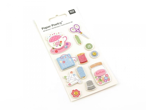 3-D stickers - Sewing accessories