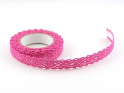Fabric tape dentelle - fuchsia