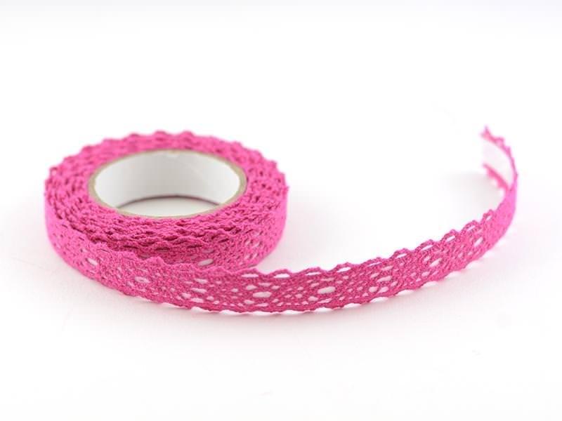 Fabric tape dentelle - fuchsia