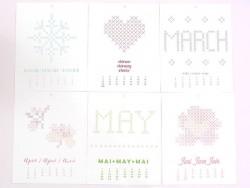 Embroidery calendar