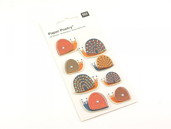 Stickers 3D - escargots
