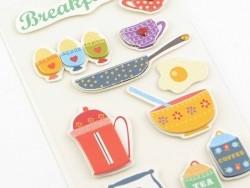 Stickers 3D - breakfast