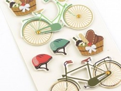 Stickers 3D - bicyclettes
