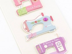3-D stickers - Sewing machine