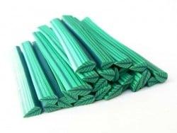 Cane feuille - vert et vert clair