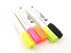 5 fabric markers - neon colours