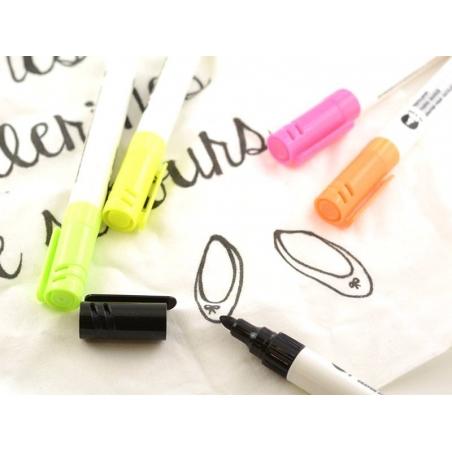 Acheter 5 feutres textiles - couleur FLUO - 12,90€ en ligne sur La Petite Epicerie - Loisirs créatifs