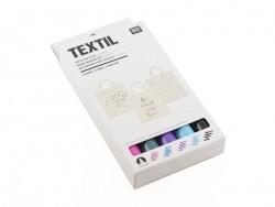 Acheter 5 feutres textiles - couleur rose/bleu - 11,90€ en ligne sur La Petite Epicerie - Loisirs créatifs