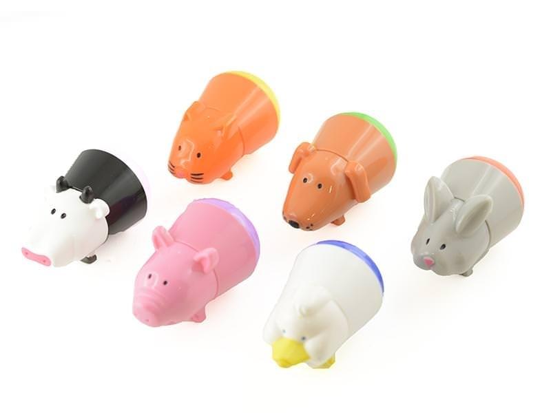 6 felt pens for children - farm animals