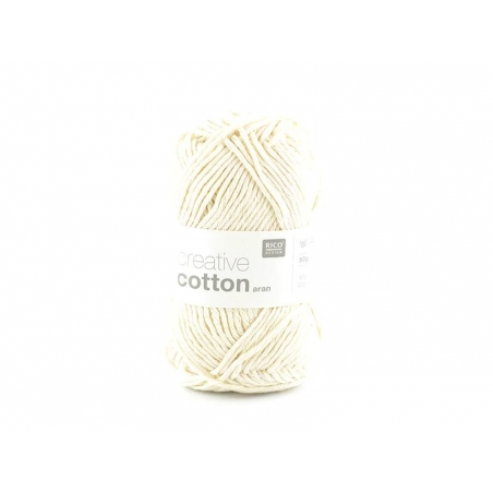 "Cotton knitting yarn - ""Creative Cotton"" - off-white (colour no. 60)"