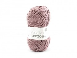 "Cotton knitting yarn - ""Creative Cotton"" - antique pink (colour no. 61)"
