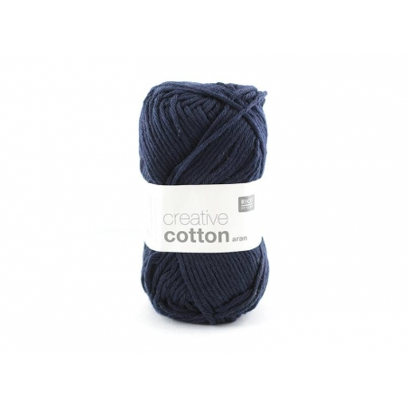 "Cotton knitting yarn - ""Creative Cotton"" - navy blue (colour no. 38)"