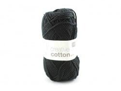 """Coton à tricoter """"Creative Cotton"""" - noir 90"""