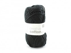 "Cotton knitting yarn - ""Creative Cotton"" - black (colour no. 90)"