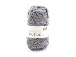 "Cotton knitting yarn - ""Creative Cotton"" - mouse grey (colour no. 28)"