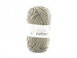 "Cotton knitting yarn - ""Creative Cotton"" - lead grey (colour no. 52)"