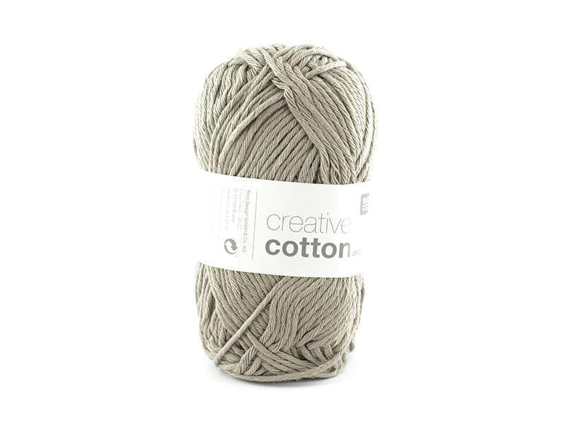 """Coton à tricoter """"Creative Cotton"""" - gris plomb 52"""